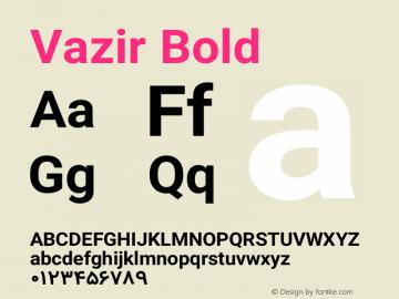 Vazir Bold Version 4.0.0; ttfautohint (v1.4.1.5-446e) Font Sample
