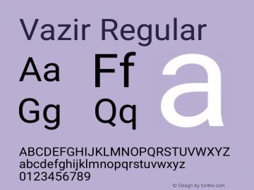 Vazir Regular Version 4.0.1; ttfautohint (v1.4.1.5-446e) Font Sample