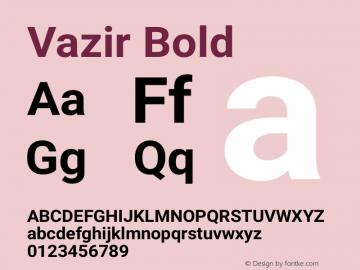 Vazir Bold Version 4.0.1; ttfautohint (v1.4.1.5-446e) Font Sample