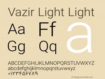 Vazir Light Light Version 4.0.1; ttfautohint (v1.4.1.5-446e) Font Sample