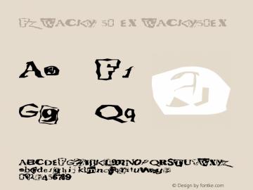FZ WACKY 50 EX WACKY50EX Version 1.000 Font Sample