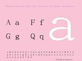 BabelStone Khitan Large Glyphs Regular Version 1.005图片样张