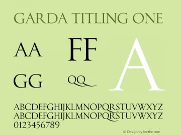 Garda Titling One Version 2.00 2013 Font Sample