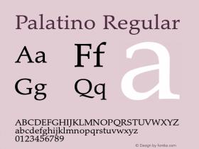 Palatino Regular Version 1.60     03/31/2014 Font Sample