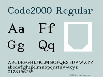 Code2000 Regular Version 1.171 Font Sample