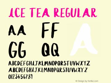 Ice Tea Regular Version 1.00 August 17, 2016, initial release图片样张