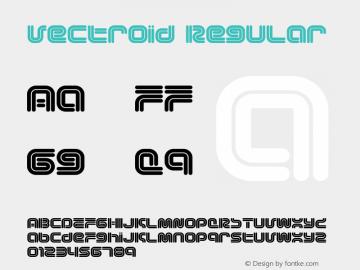 Vectroid Regular Version 1.0; 2001 Font Sample
