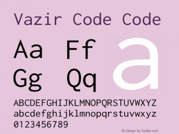Vazir Code Code Version 1.0.0; ttfautohint (v1.4.1.5-446e) Font Sample