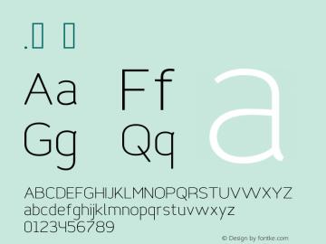 .  Version 1.001 2015 Bogotá Font Sample