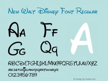 New Walt Disney Font Font,New Walt Disney Font Regular Font
