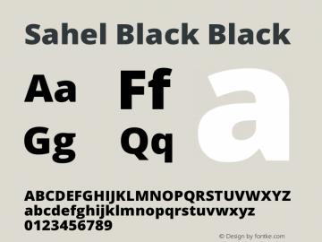 Sahel Black Black Version 1.0.0-alpha5; ttfautohint (v1.4.1.5-446e) Font Sample