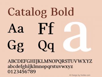 Catalog Bold Version 3.001图片样张