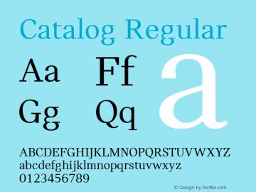 Catalog Regular Version 3.001图片样张