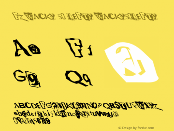 FZ WACKY 50 LEFTY WACKY50LEFTY Version 1.000 Font Sample