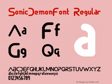 SonicDemonFont Regular 1.0图片样张