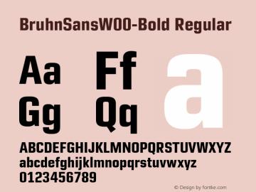 BruhnSansW00-Bold Regular Version 1.00图片样张