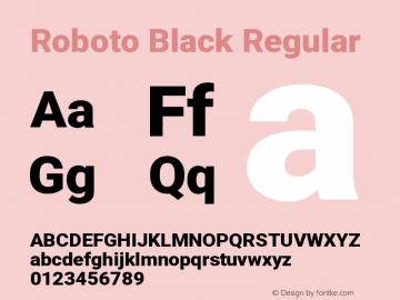 Roboto Black Regular Version 2.132; 2016图片样张