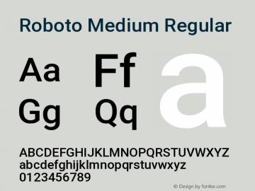 Roboto Medium Regular Version 2.132; 2016图片样张