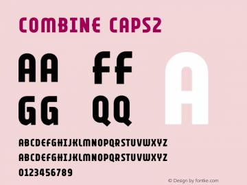 Combine Caps2 Version 1.000 Font Sample