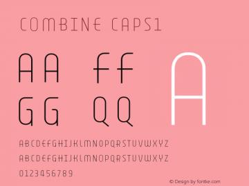 Combine Caps1 Version 1.000 Font Sample