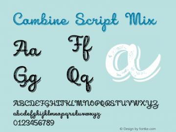 Combine Script Mix Version 1.000 Font Sample