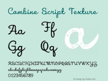 Combine Script Texture Version 1.000 Font Sample