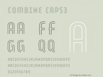 Combine Caps3 Version 1.000 Font Sample