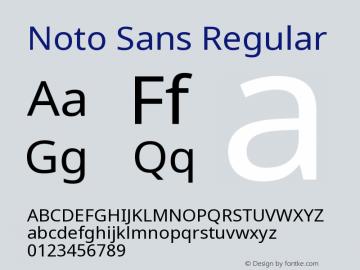 Noto Sans Regular Version 1.04 Font Sample