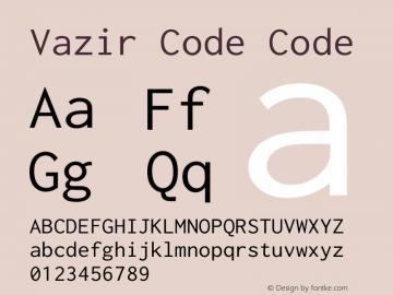 Vazir Code Code Version 1.0.2; ttfautohint (v1.4.1.5-446e) Font Sample