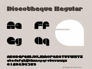 Discotheque Regular Print Artist: Sierra On-Line, Inc. Font Sample