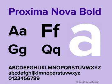 Proxima Nova Bold Version 2.008; Proxima Nova Bold Font Sample