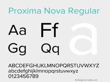 Proxima Nova Regular Version 2.008; Proxima Nova Font Sample