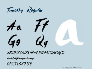 Timothy Regular Version 1.000;PS 001.001;hotconv 1.0.56 Font Sample