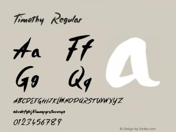 Timothy Regular Version 001.000 Font Sample