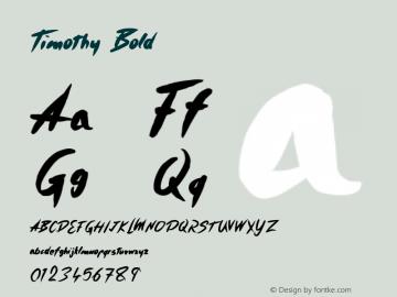 Timothy Bold Version 001.000 Font Sample