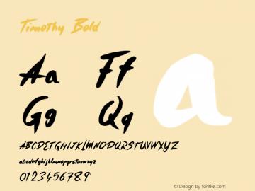 Timothy Bold Version 1.000;PS 001.001;hotconv 1.0.56 Font Sample