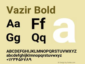 Vazir Bold Version 4.1.0 Font Sample