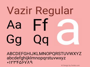 Vazir Regular Version 4.1.0 Font Sample