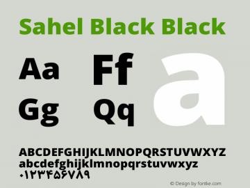 Sahel Black Black Version 1.0.0-alpha6 Font Sample