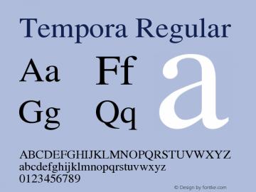 Tempora Regular Version 0.2 Font Sample