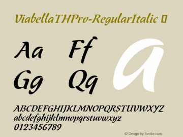 ViabellaTHPro-RegularItalic ☞ Version 1.001 2016;com.myfonts.easy.ef.viabellat-h-pro.italic.wfkit2.version.4yhm Font Sample