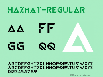 HAZMAT-Regular ☞ Version 1.00 2015;com.myfonts.easy.little-fonts.hazmat.regular.wfkit2.version.4nFY图片样张
