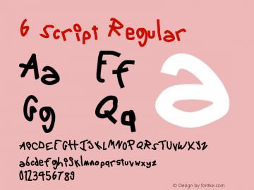 6 Script Regular Version 1.0图片样张