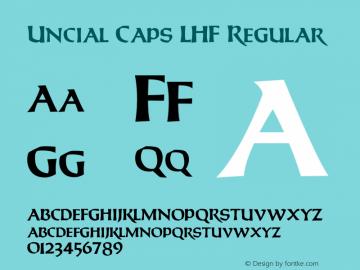 Uncial Caps LHF Regular Version 001.901 Font Sample