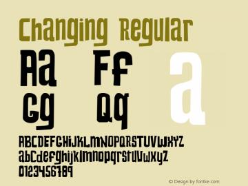 Changing Regular Version 1.1图片样张