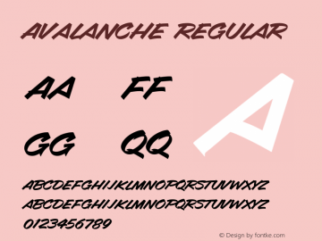 Avalanche Regular Version 2.20图片样张