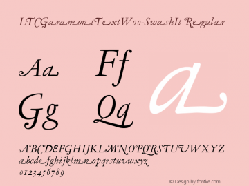 LTCGaramontTextW00-SwashIt Regular Version 3.00 Font Sample