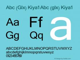 Abc (Glx) Kiya1 Abc (glx) Kiya1 Abc (Glx) Kiya1 Font Sample