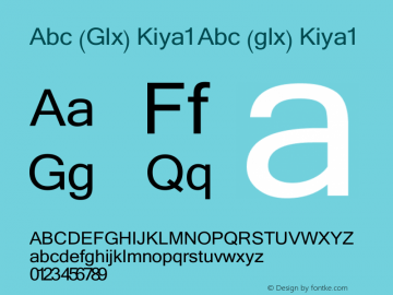 Abc (Glx) Kiya1 Abc (glx) Kiya1 Abc (Glx) Kiya1图片样张