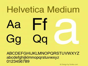 Helvetica Medium 001.006 Font Sample